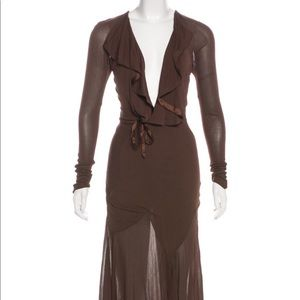 Long Sleeve Midi Dress - Yves Saint Laurent